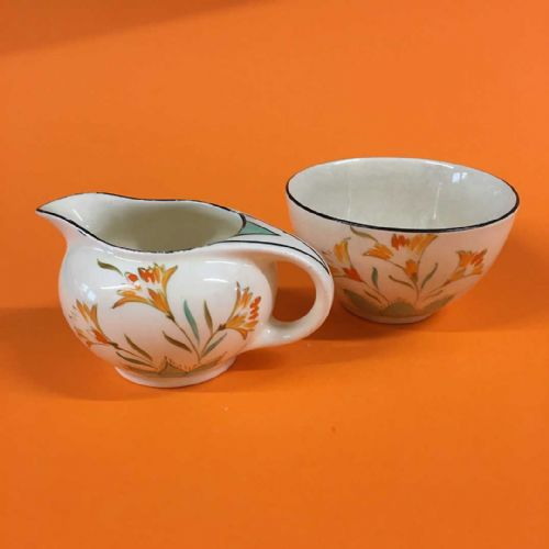 Burgess & Leigh - Art Deco - Creamer & Open Sugar - 30s